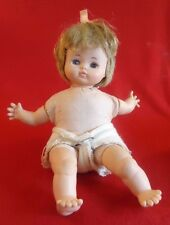 Vintage Horsman Cloth Doll with Vinyl Legs & Arms Light Brown Hair 11""