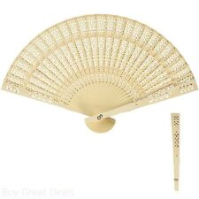 Hand Held Personal Fans Folding Sandalwood Outlet Wall Decorative Wedding Gifts