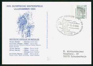 MayfairStamps Germany 1994 Biathlon Medal Winners Cover wwp80789
