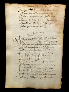 LATIN MEDIEVAL PAPER 1468