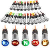 12V 8mm LED Leuchtmelder Anzeigelampe Signallampe Signalleuchte Kontrollleuchte