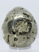 Pyrite Egg Heavy Mass Crystal Mineral Chamber Sparkling Surface See Video B50