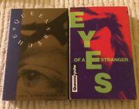 2- Queensryche Eyes of a Stranger & Jet City Women Cassette Tape Single Sleeve