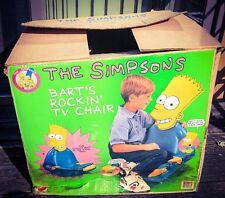Bart Simpson Rockin TV Chair Simpsons Mattel 1990 RARE Simpson Collectors Chair