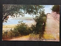 Vintage Postcard - Isle Of Wight #A1 - RP Sandown View From Cliff Path