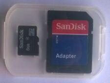 SANDISK MICROSDHC MICRO SD SDHC HC 8 GB SD Card scheda + adattatore SD