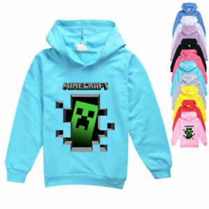 Boys/Girls Minecraft Kids Hoodies Fashion Spring Autumn T-shirt Hoodies 5-13 Yr