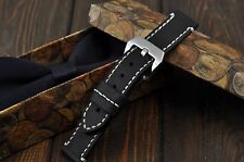 Handmade Leather Watch Strap 18mm 20mm 21mm 22mm 24mm 26mm watch band