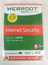 New - Webroot Secure Anywhere Internet Security 3 Devices for PC Mac Android iOS