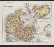 Landkarte map 1867: Das Königreich Dänemark.