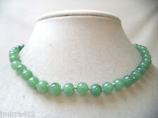 VINTAGE MINT NOS WAREHOUSE GREEN LUCITE BEADED JAPAN MADE NECKLACE!!! WGA354