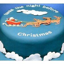 Santa Sleigh Patchwork Cutter reindeer Christmas Cake cutter NEXT DAY DESPATCH