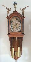 Warmink Wall Clock Staartklok Dutch Vintage 8 Day Chain Driven Moonphase