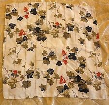 Nick & Nora Elegant Silk Flowers Design Handkerchiefs/Pockets Scarf Made in USA!
