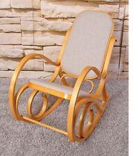 Sedia a dondolo in legno colore quercia