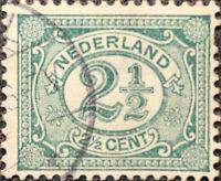 Vintage 1899 Nederland 2 1/2 Cent Postage Stamp Perf 12 1/2 XF