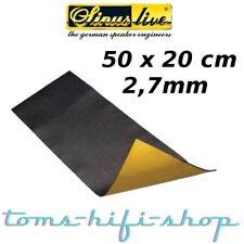 SinusLive Antidröhnmatte Dämmmatte Bitumen Matte Dämmmaterial ADM 50x20cm 2,7mm