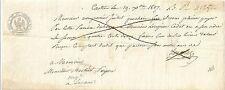 PAPIER ANCIEN PARCHEMIN PROMESSE DE PAIEMENT CESSION DE CREANCES CASTRES 1809