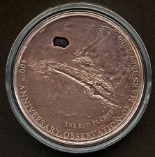 Cook Islands 2009 Mars Meteorite Insert NWA 295 $5 Silver Copper-Plated COA