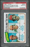 1980 Topps Houston Astros Future Stars Baldwin Knicely Ladd RC #678 PSA 9 MINT