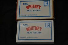 Vtg Advertising Playing Cards DEL WHITNEY REAL ESTATE Midland Michigan Sealed!