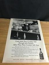 "1991 VINTAGE 9X12 PRINT Ad FOR JACK DANIELS TENNESSEE WHISKEY THE ""WHITE RABBIT"""