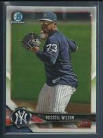 Russell Wilson 2018 Bowman Chrome Prospects # BCP151 New York Yankees Seahawks