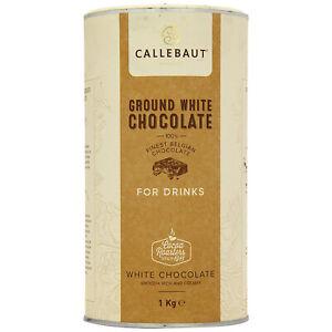 Callebaut Finest Ground Belgian White Hot Chocolate Powder For Drinks - 1KG
