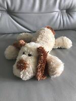 Tesco Cream Dog Soft Toy Plush Cuddly 03 Teddy Floppy Puppy 2003 brown chein