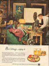 1948 vintage beverage AD for BEER , U.S. Brewers Foundation ,ART Dohanos  030818