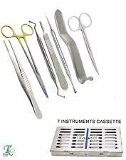 Professional Dental Surgeon's Surgery Pack Gum Scissors Needle Holder Scalpel CE