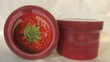 THE BODY SHOP JUMBO STRAWBERRY BODY BUTTER SIZE 13.5 OZ X2.