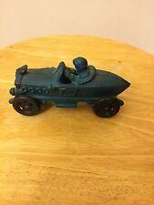 Vintage Hubley Racing Car W/Driver Diecast Toy
