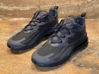 Nike Air Max 270 React Mens Size 10 'Triple Black' CI3866-003 *NEW*