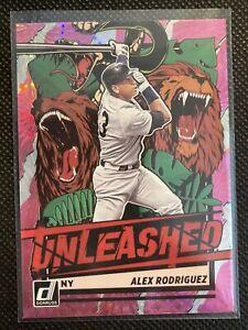 ALEX RODRIGUEZ 2021 Donruss Baseball Unleashed SP Insert Pink Firework #UNL23