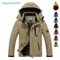 Multi-Pocket Mens Waterproof Fleece Mountain Jackets Ski Snowboard Outwear Parka