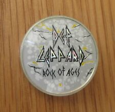 More details for def leppard rock of ages vintage metal pin badge from the 1980's heavy metal