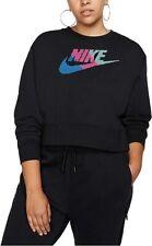 Nike Plus Size Sportswear Fleece Crewneck Crop Sweatshirt, black NWT 3X