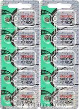 Maxell 364 SR621SW SR621 28034 LR621 AG1 Battery 0% MERCURY ( 10 pc )