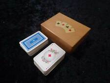 Wood Little Box with Playing Cards - Vintage