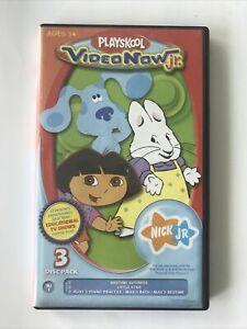 PLAYSKOOL video now jr Junior DORA Max Ruby Blue's Clues color 3 Disc Pack NJ3