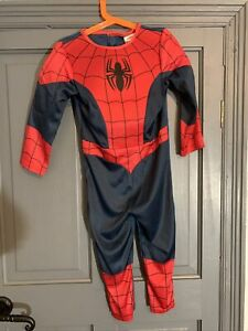 Marvel Spiderman All in One Halloween Book Day Fancy Dress Costume - 3-4 Years
