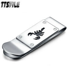 Steel Scorpion Money Clip New Top Quality Ttstyle Silver 316L Stainless