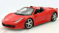 FERRARI 458 SPIDER 1:24 Diecast Car Model Die Cast Cars Toy Miniature Red