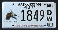 "MISSISIPPI "" WILDLIFE WATERFOWL - DUCK - BIRD ""  MS Specialty License Plate"