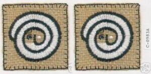 "2.25 "" Boucle Visage Tribal Ethnique Broderie Patch"