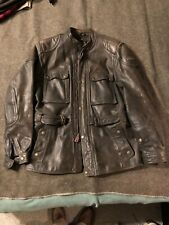 Vintage Hein Gericke Paris-to-Dakar Leather Touring Motorcycle Jacket Men 44