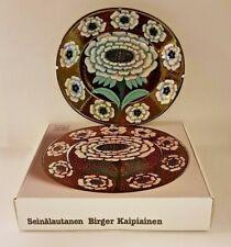 Birger Kaipiainen Lustre Decorate Art Plate Fiori 1983 Brand new Finland Arabia