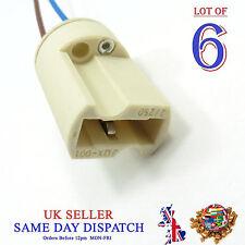 6x G9 Base Ceramic Socket Lamp Holder Cable Halogen Bulb LED Light Fitting