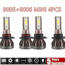 4 Bulbs Kit 9005 9006 3820W 6000K Combo  LED Headlight High Low Beam Bulbs